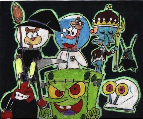 SpongeBob Halloween Wallpaper - WallpaperSafari | Beautiful ...