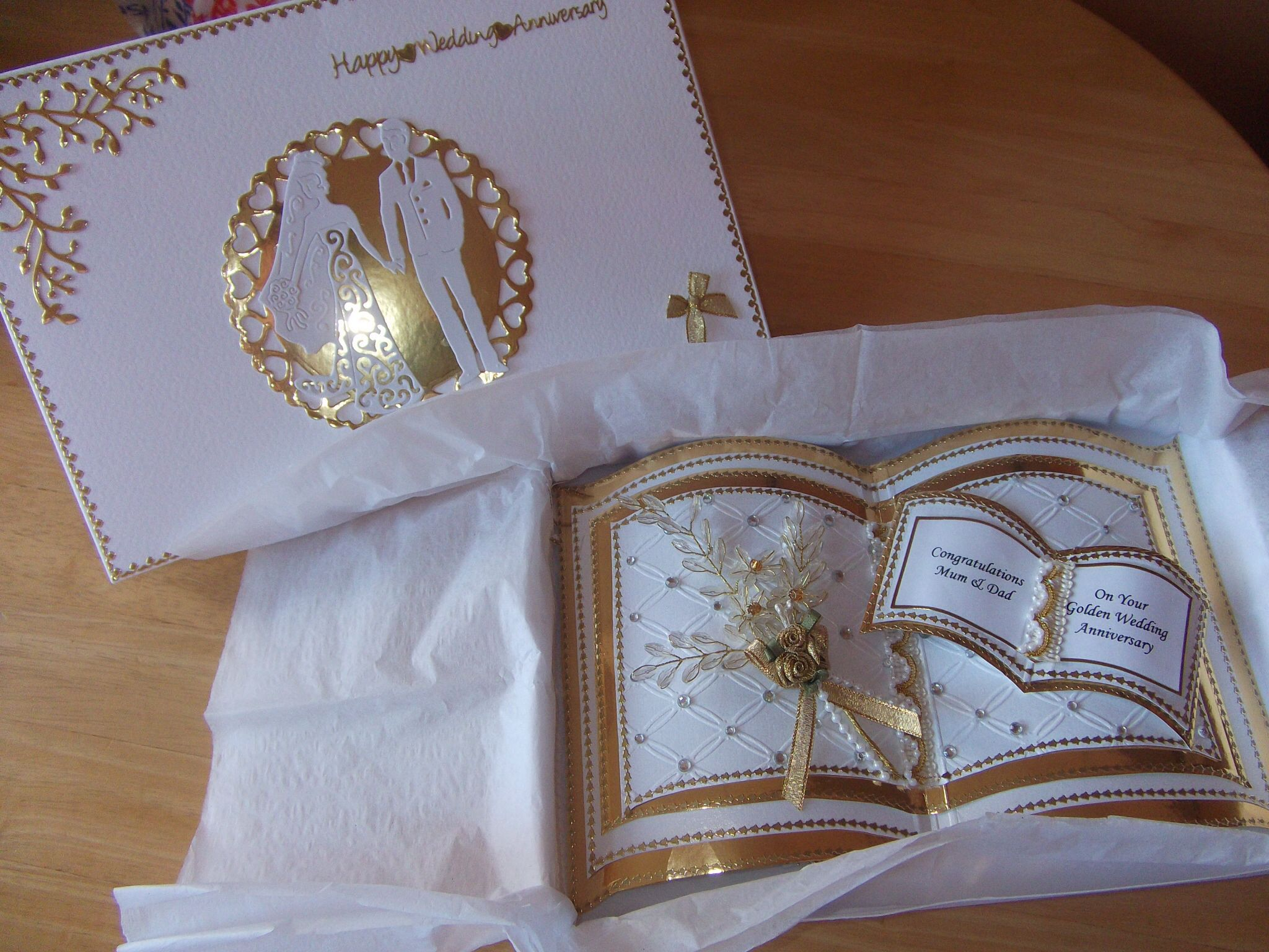 Books On Card Making Part - 47: Bookatrix Card And Box Made For Parentu0027s Golden Wedding.
