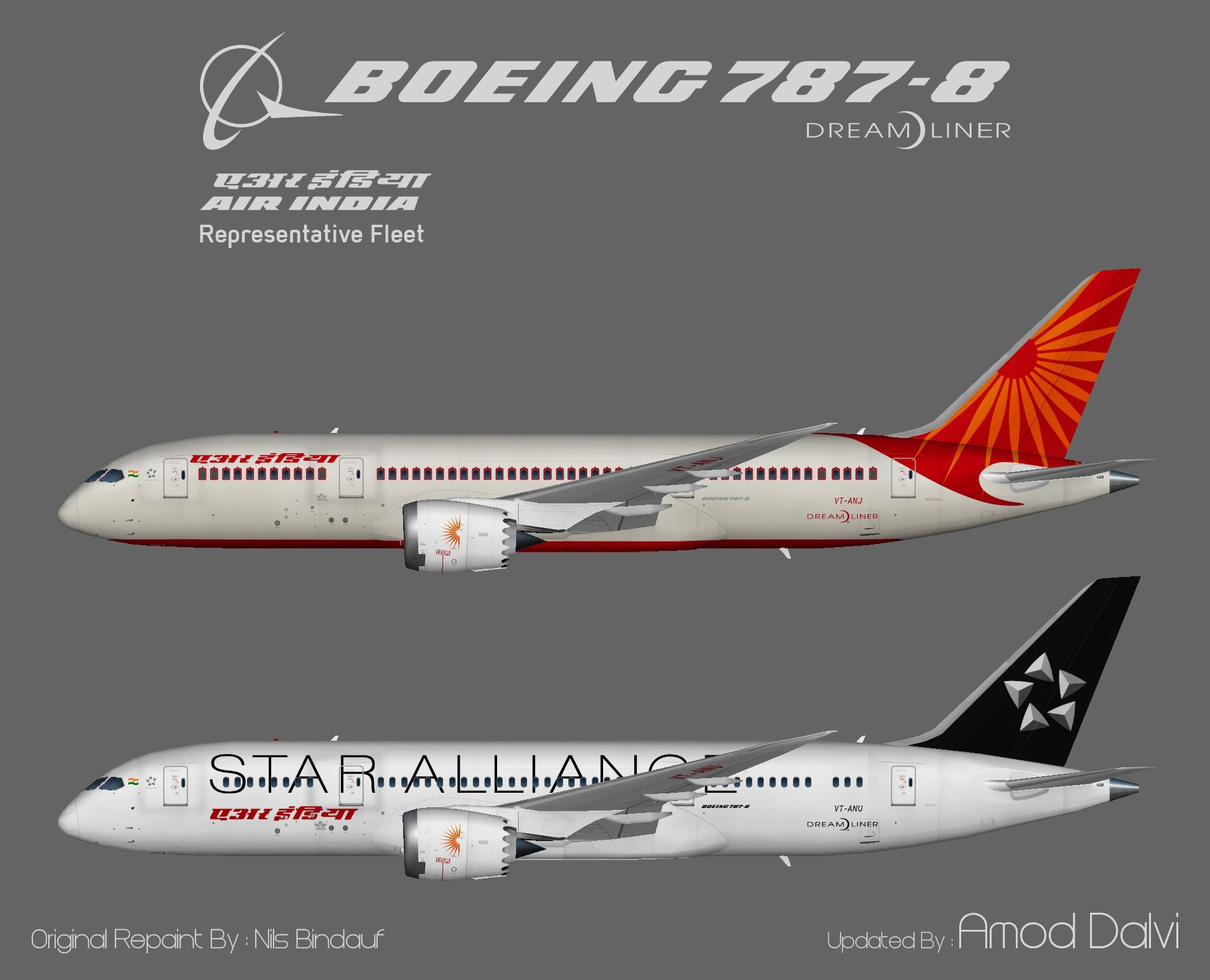 Air India Boeing 787 8 Amod Nils Air India Boeing 787 Boeing