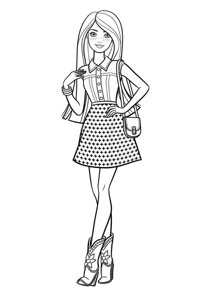 Free Coloring Page Barbie