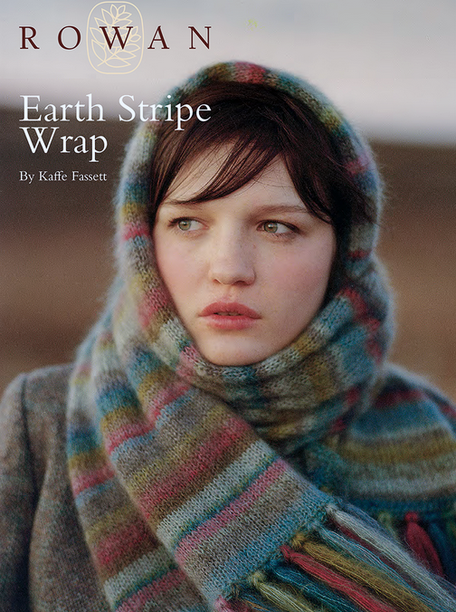 FREE Rowan pattern: Earth Stripe Wrap by Kaffe Fassett, knit in ...