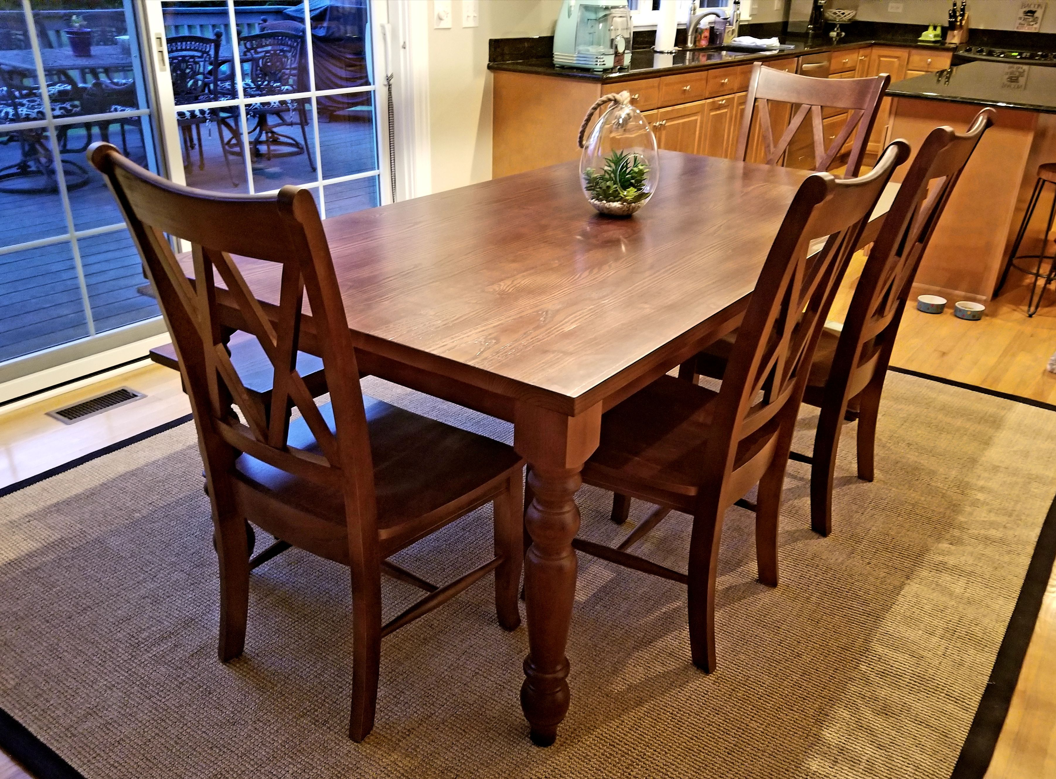 Farmhouse charm. Our Old English dining table brings ...