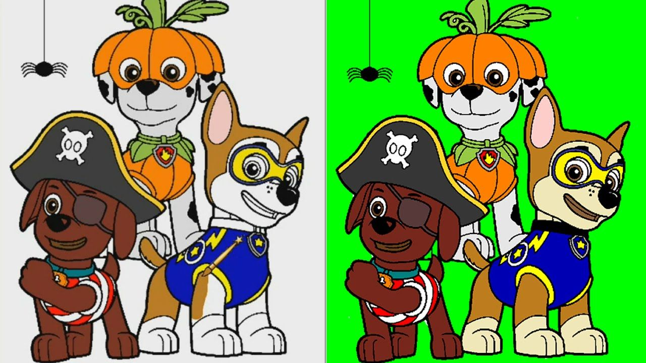 Paw Patrol Coloring Pages for Kids Coloring Games ▻ Paw Patrol ...