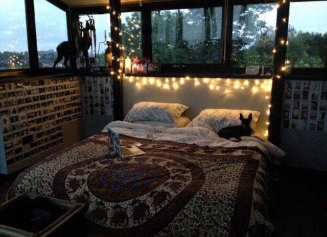 tumblr bedrooms bedroom lights grunge bohemian girl girls