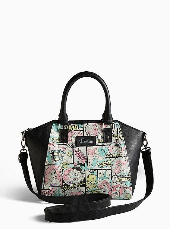 Plus Size Disney Ariel Comic Satchel Bag