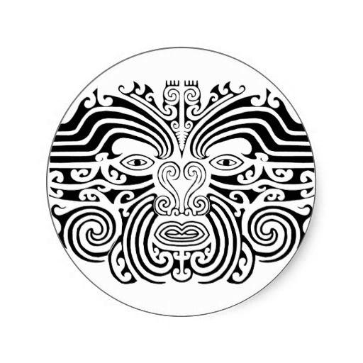 e249f6866 New Zealand Maori Tattoos | Maori Tattoo - Black and White Sticker on  Zazzle.co.nz