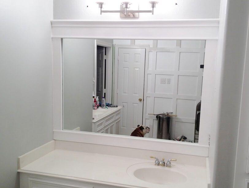 framing bathroom mirror with crown molding pictures decor diy frame on diy sink vanities, diy outdoor flooring ideas, diy bathrooms on a budget, diy home decor, diy bathtub, diy flooring ideas on a budget, diy firepit designs, diy showers, diy bar designs, diy concrete countertops, diy tiny bathrooms,