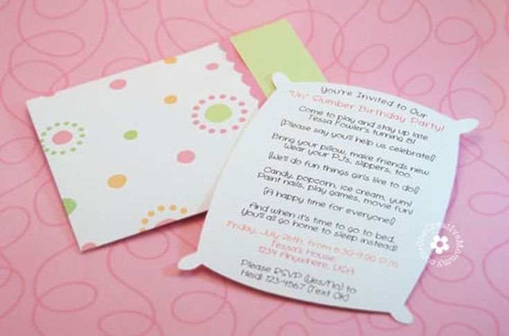 15 Free, Printable Sleepover Invitations Your Daughter Will Love