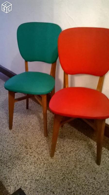 lot de 2 chaise de bureau vintage 1965 - Chaise De Bureau Vintage