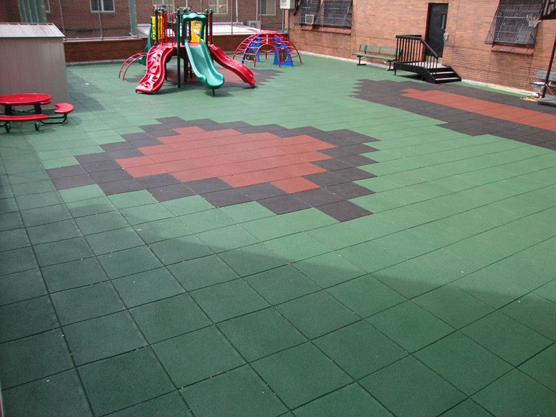 Playground outdoor UV coating rubber tiles just for you