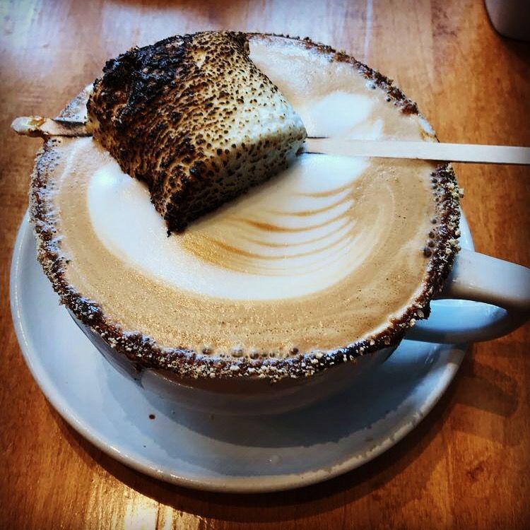 Smores latte in St Paul MN cafeastoria Cupcakes Desserts