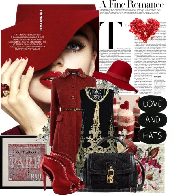 """""""The Red Hat"""" by sweetdee55 ❤ liked on Polyvore"""