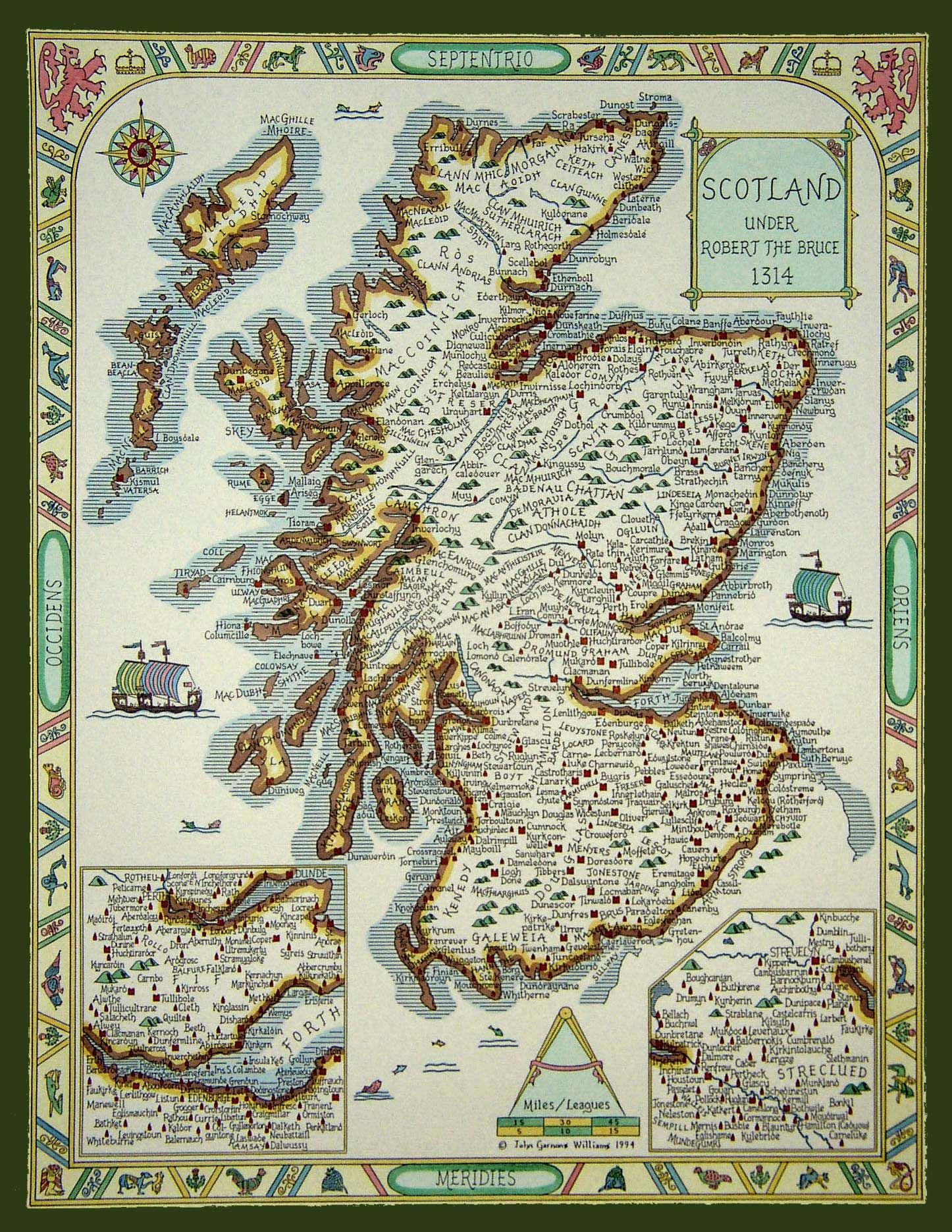 Map Of Scottish Clans Under Robert The Bruce 1314wheres Wallace
