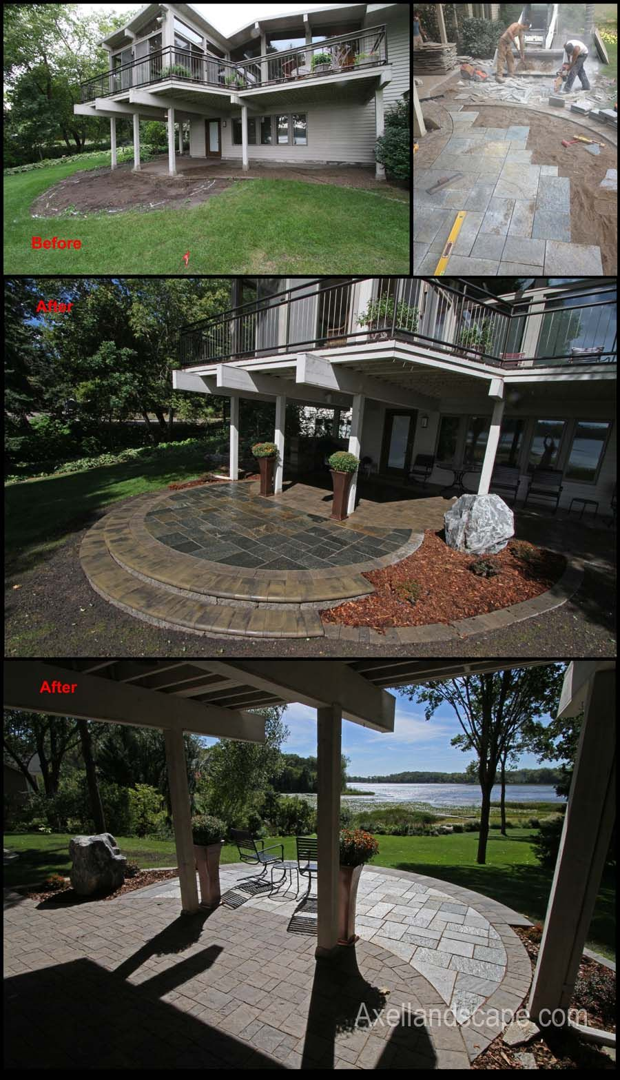 Add a bumpout to an under deck patio and with a beautiful add a bumpout to an under deck patio and with a beautiful natural stone accent baanklon Choice Image