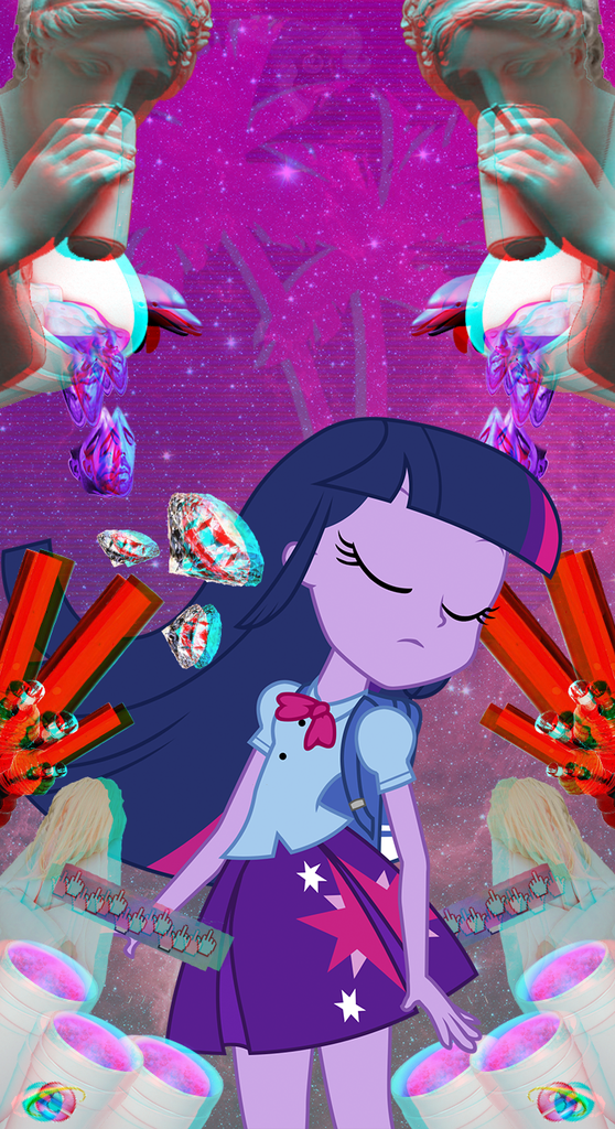 903342 Bong Equestria Girls Glitch Safe Solo Space Twilight Sparkle Wallpaper Webpunk Derpibooru My Li Twilight Sparkle My Little Pony Wallpaper