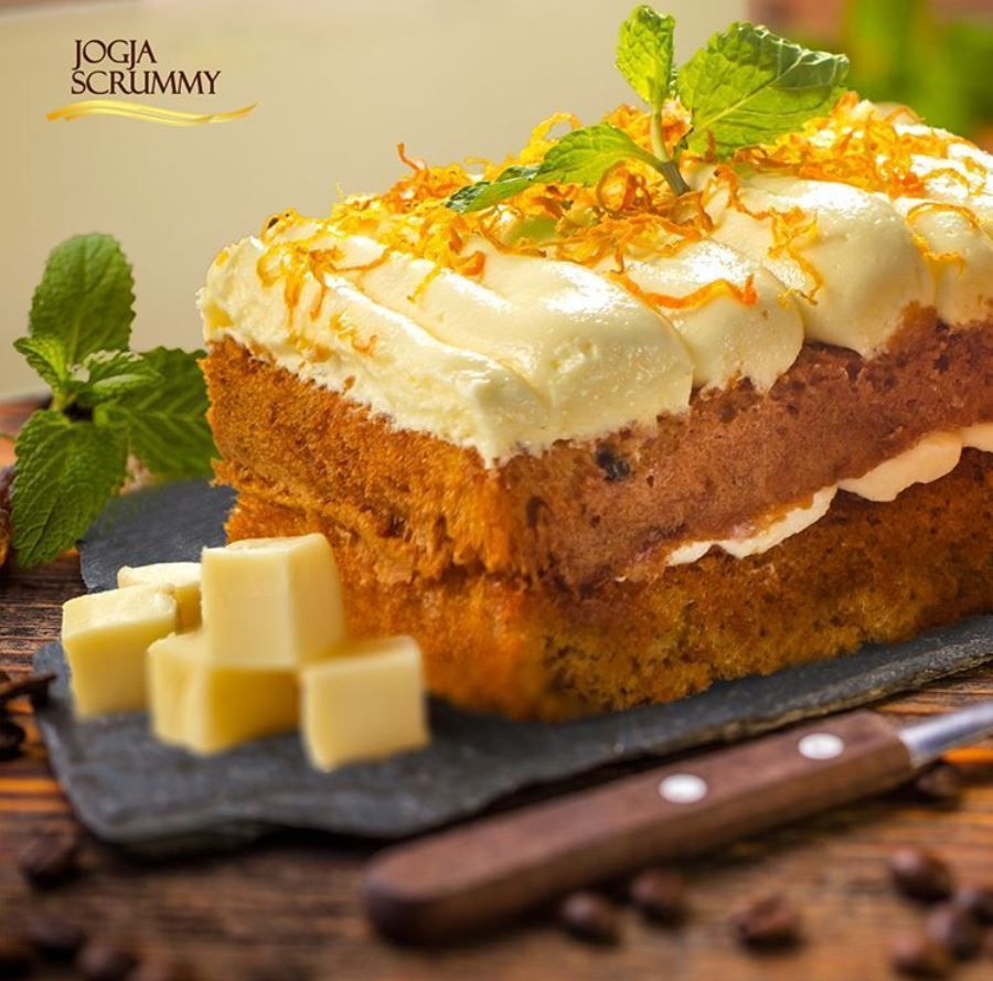 Carrot Cake Frozting Cheese Makanan Hidangan Penutup Resep Masakan