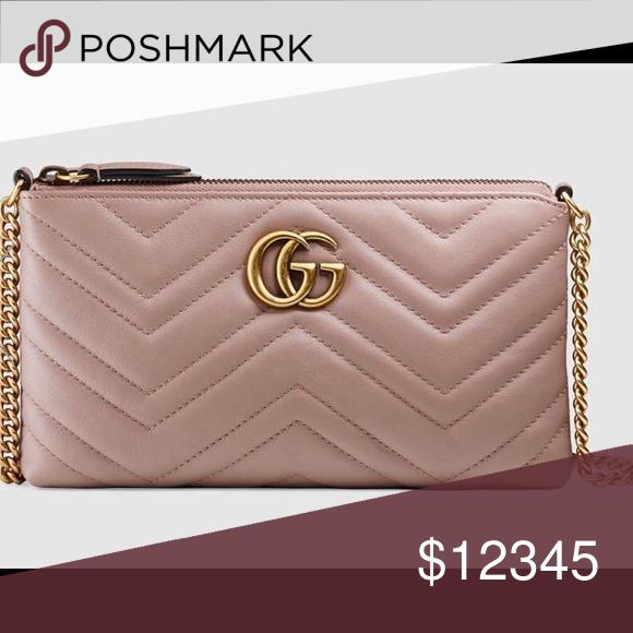 Gucci Marmont Mini Chain Bag In Dusty Pink Trade Euc Bag