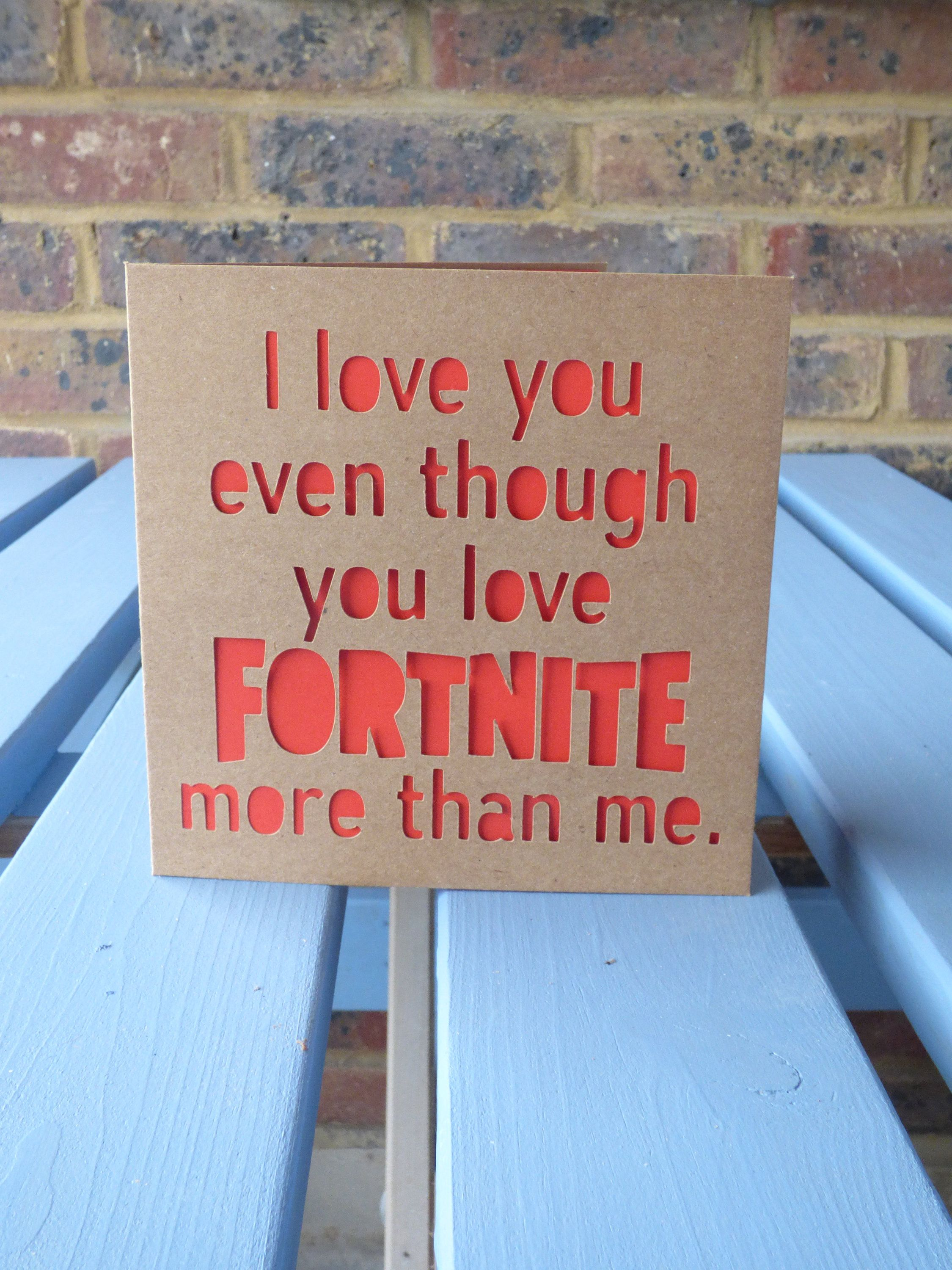 Fortnite More Than Me Card Fortnite Cards Christmas Cards