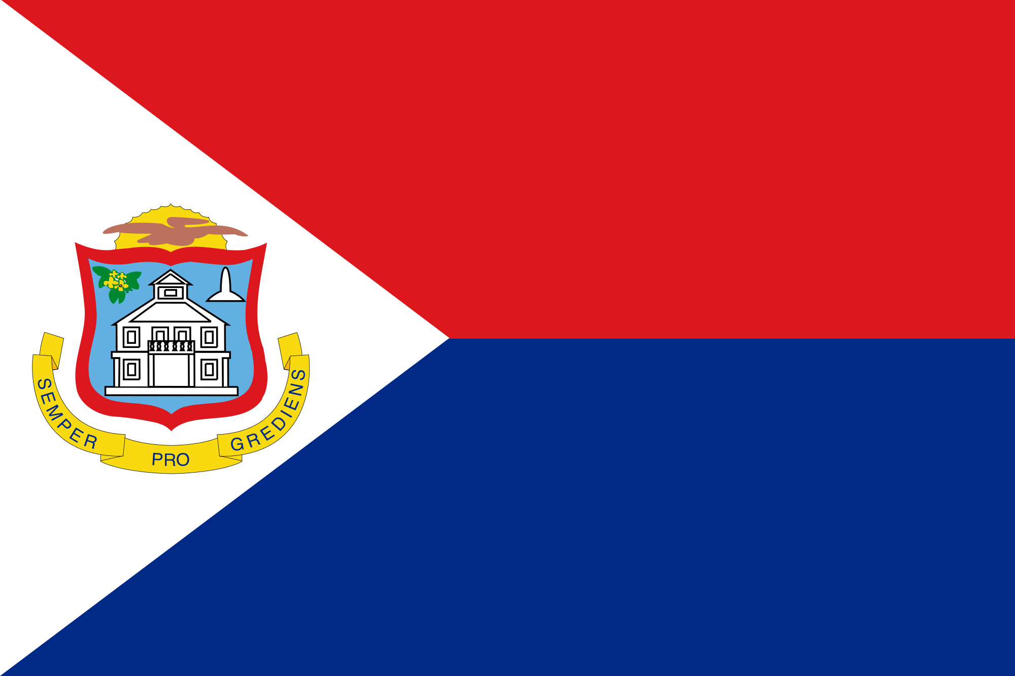 Sint Maarten The Netherlands And Holland Explained Sint Maarten Flag Flags Of The World