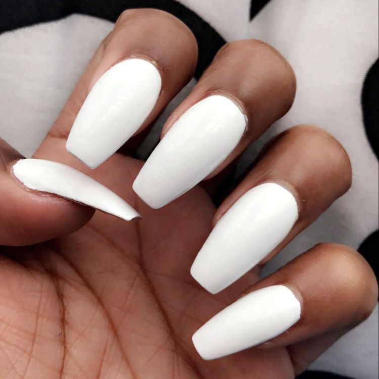 45 Natural Acrylic Coffin Nails Designs For Short And Long Nails Koees Blog Nails Prom Nails Acrylic Nails