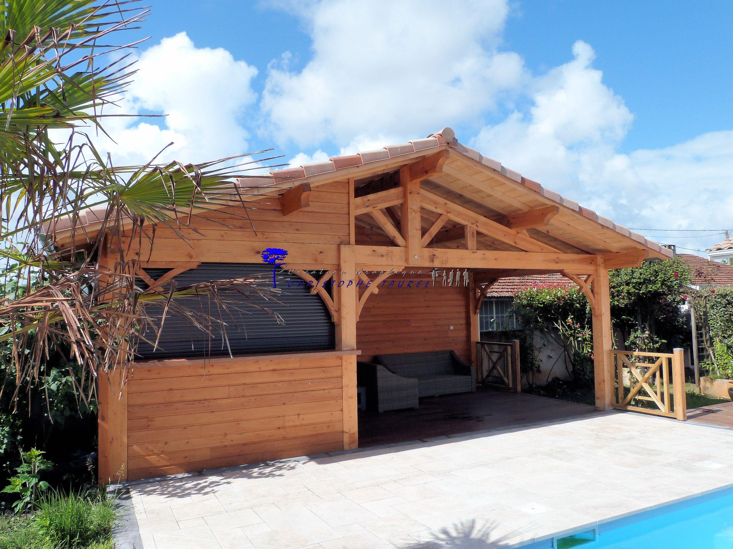 cuisine d 39 t ou pool house ossature bois du cot d. Black Bedroom Furniture Sets. Home Design Ideas