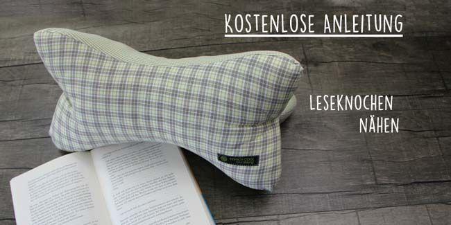 Cousez des os de lecture ou des oreillers en os. Une étiquette textile cousue ne doit pas manquer!   – Anleitung: nähen