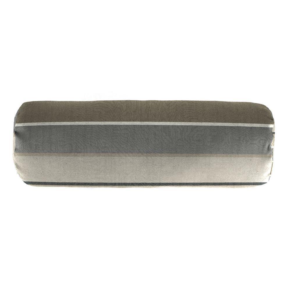 Jordan Manufacturing Sunbrella 7 in. x 20 in. Milano Charcoal Bolster Outdoor Pillow