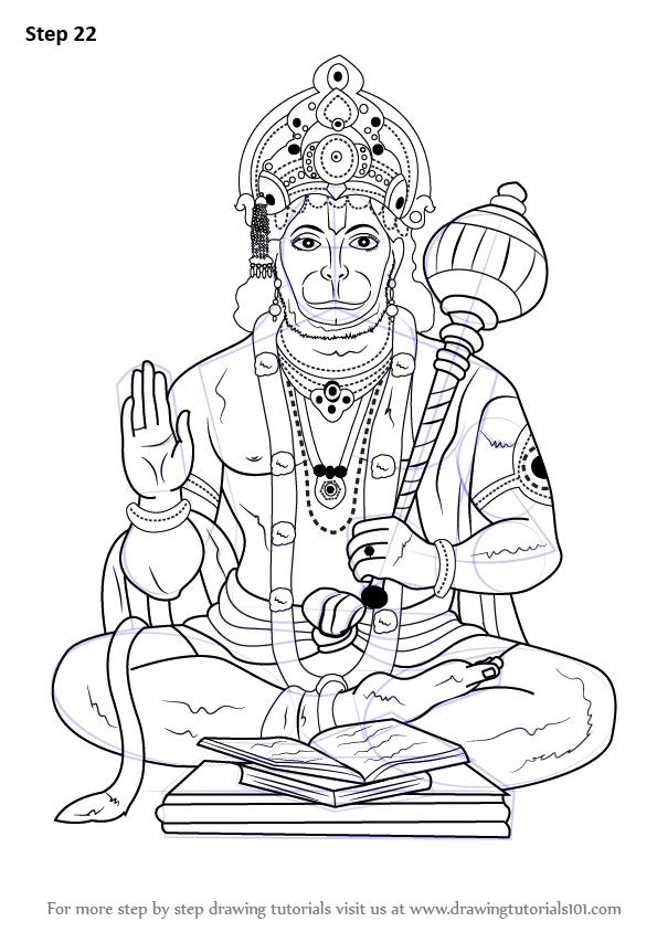 Learn How To Draw Lord Hanuman Hinduism Step By Step Drawing Tutorials Hanuman Images Lord Hanuman Wallpapers Lord Shiva Painting