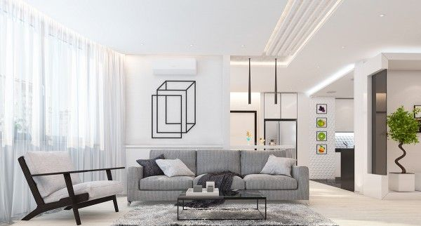 4 beautiful homes with a white theme