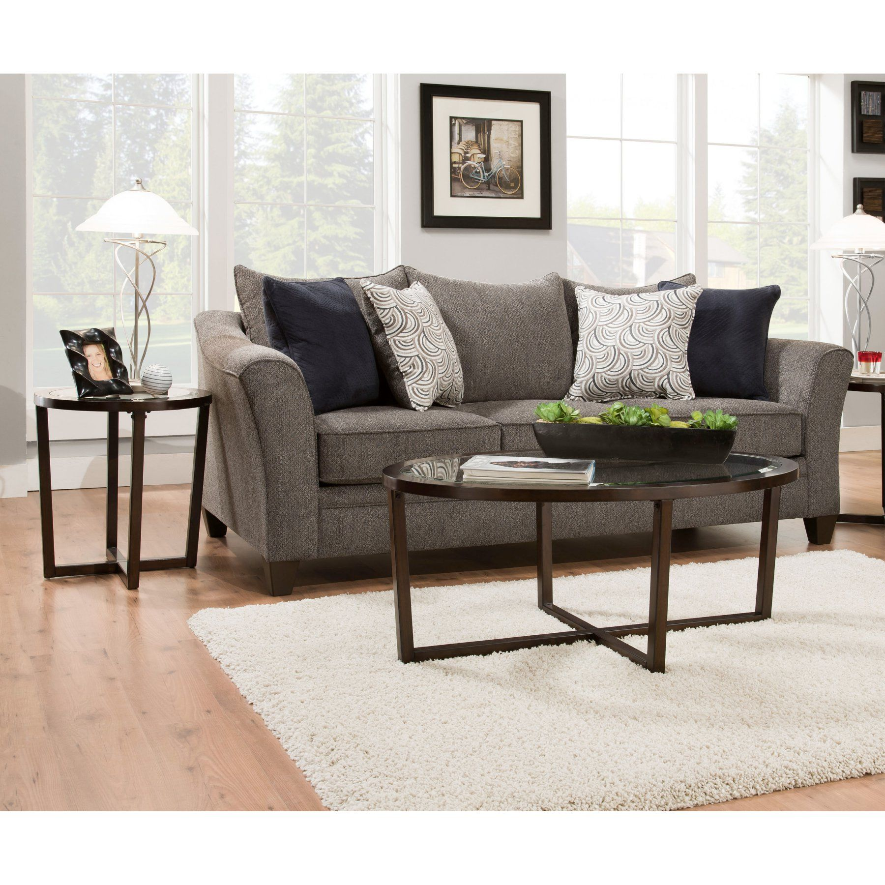 United Furniture 3 Piece Oval Coffee Table Set 7526 43