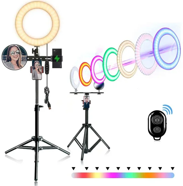 7 Ring Lights That Will Elevate Your Tiktok Game In 2020 Selfie Ring Light Ring Light With Stand Phone Holder