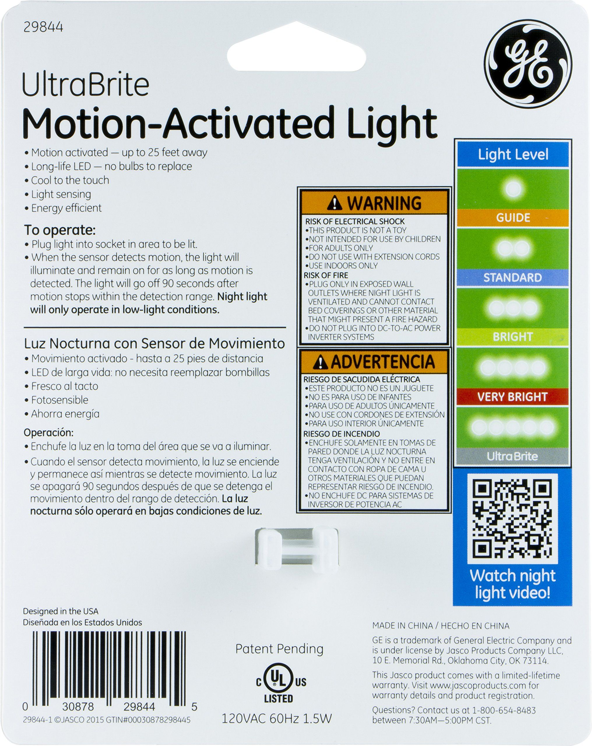 Ge Ultra Brite Motionactivated Led Light 40 Lumens Soft