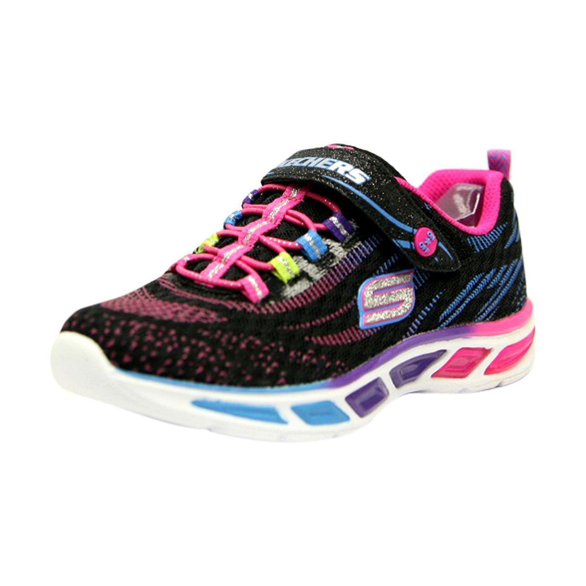465beb84564 Skechers - Girl s Lite Beams Sneaker - Black Multi