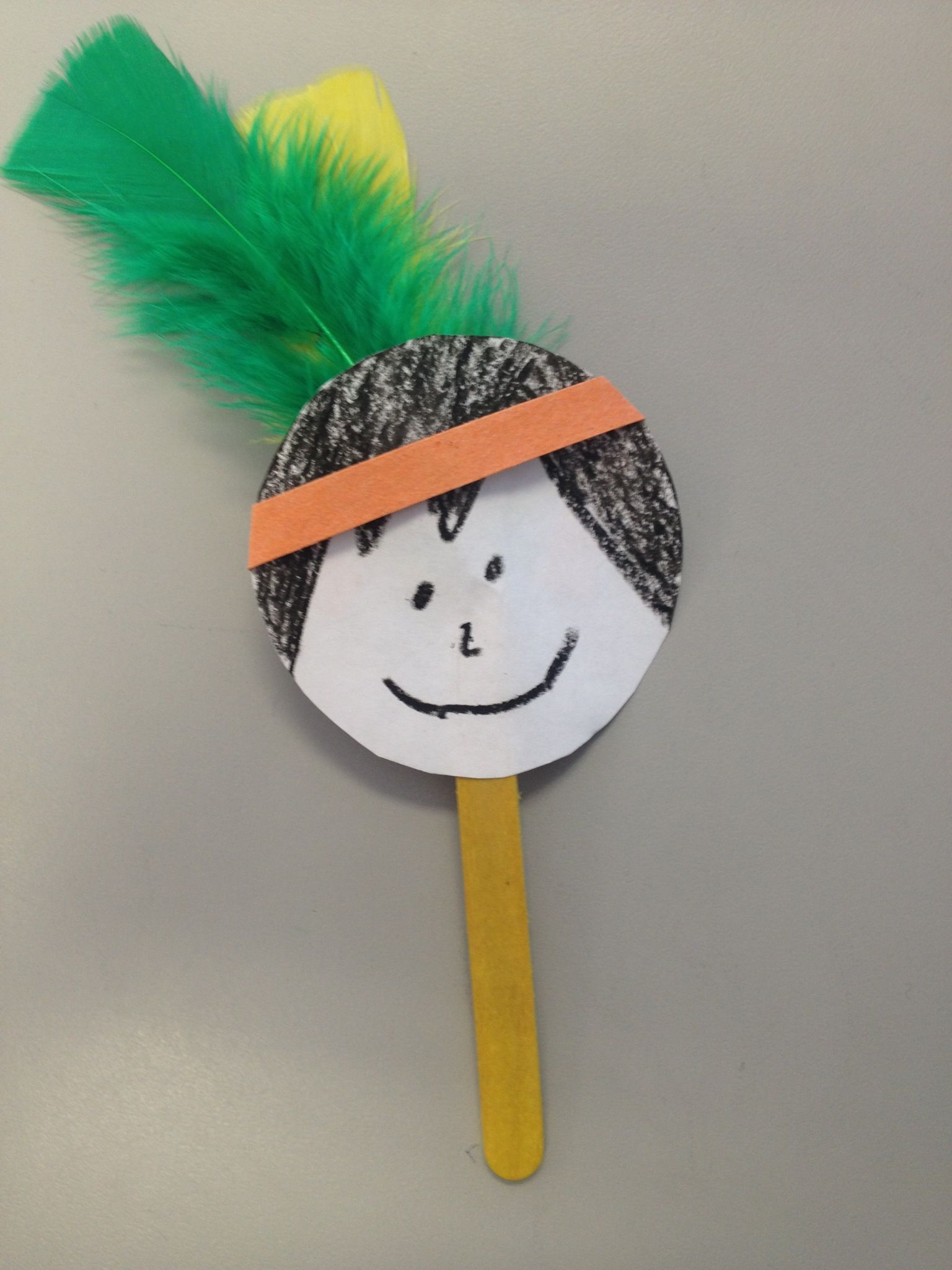 Native American Indian Popsicle Stick Puppet