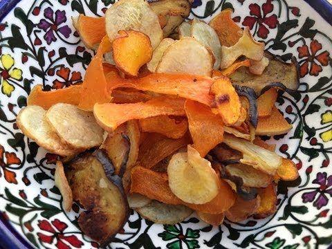 Verduras Asadas Para Picar Sano Bocadillos Vegetales Verduras Asadas Chips De Verduras