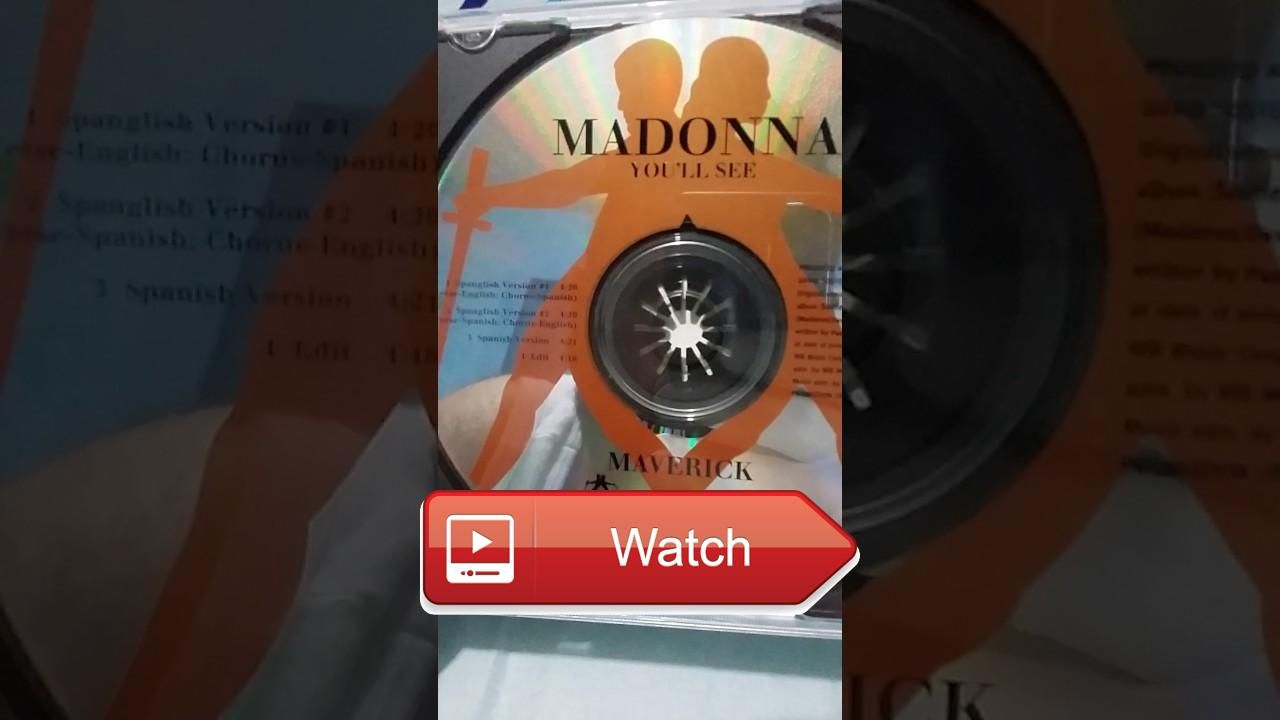 Madonna Youll see Promo CD Unboxing  Les comparto uno de mis promos favoritos Youll see es una gran cancin y este promo trae versiones que no fueron com