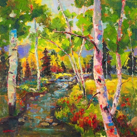 Dappled Day x by nanette oleson Oil ~ 36 x 36