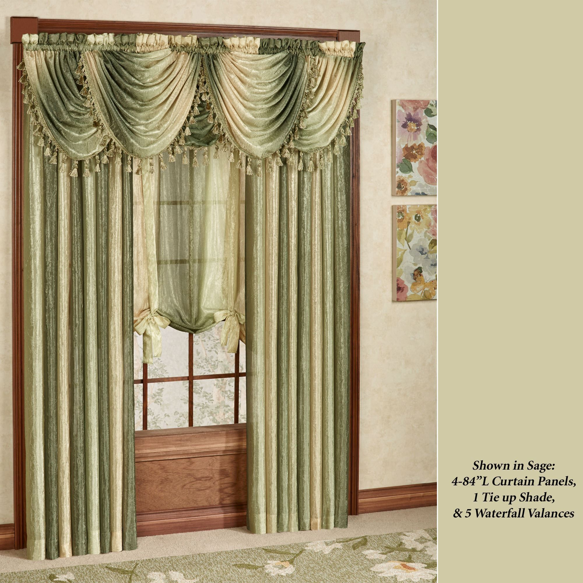 Ombre Semi Sheer Waterfall Valances Waterfall Valance Living Room Drapes Curtains