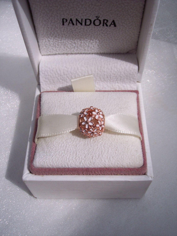 Pandora Darling Daisy Meadows Rose High Fashion Genuine Rose Gold Enamel  Designer Bracelet Glam Charm FREE SHIPPING Gift Box Sold Separately