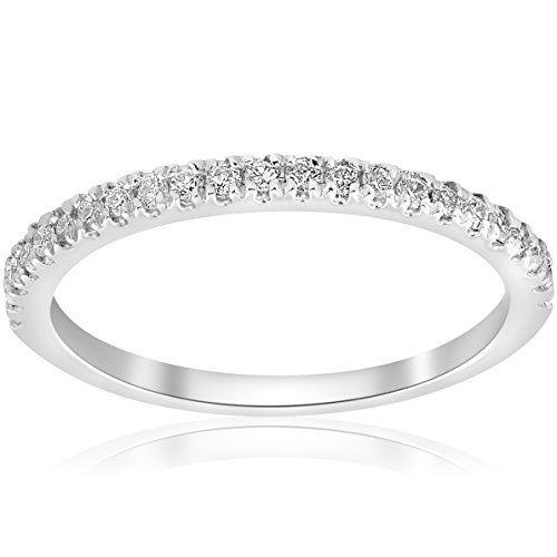 Pompeii3 Inc 15ct Diamond Wedding Band 10K White Gold Wedding