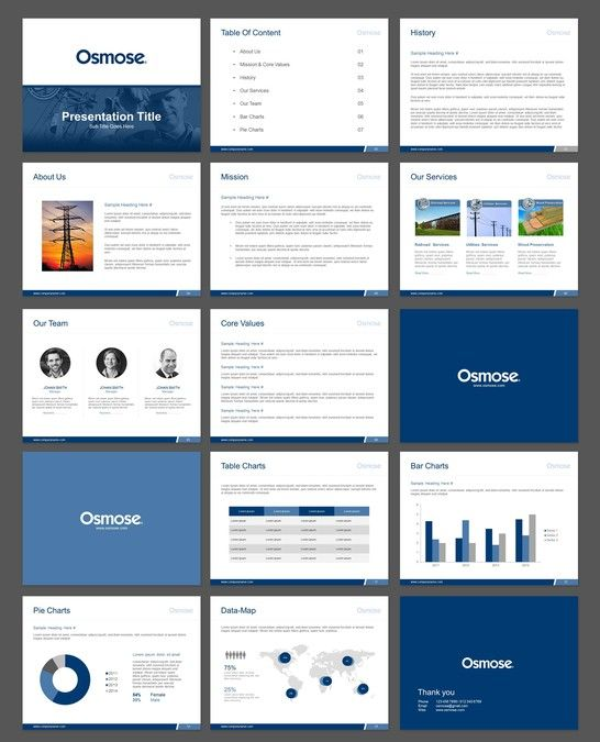 Professional powerpoint template for osmose a trusted name in professional powerpoint template for osmose a trusted name in utilities services since 1934 by wimzz toneelgroepblik Choice Image
