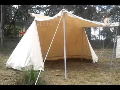 Saxon Trade Tent - Double bell tent, great for traders or reenactors with lots of nice gear they can put on show