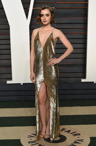 Lily Collins | Vanity Fair Oscars Afterparty 2016 \