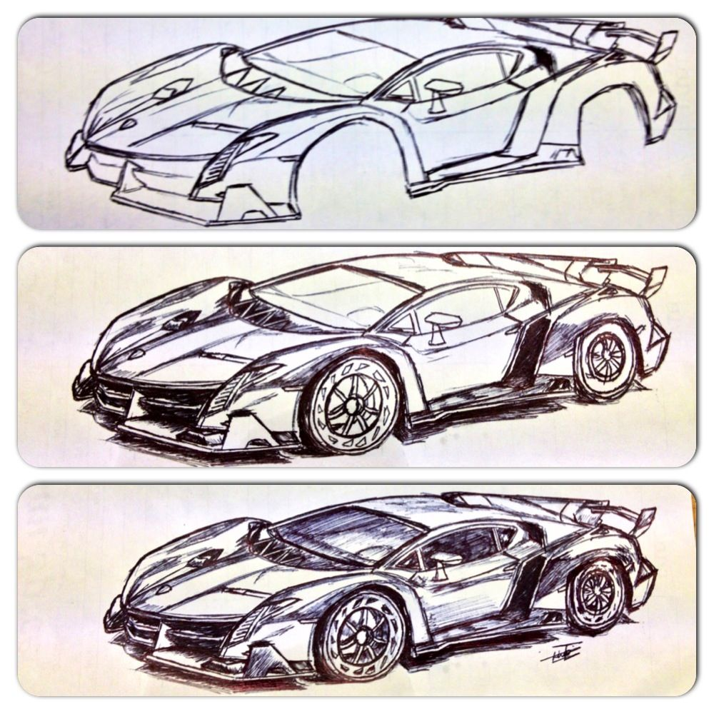 My Attempt Of Drawing The Lamborghini Veneno!