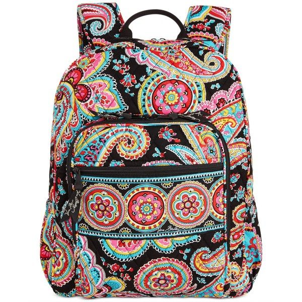 Vera Bradley Campus Backpack ( 109) ❤ liked on Polyvore featuring bags,  backpacks, parisian paisley, pattern bag, quilted bag, knapsack bags,  paisley bag ... 61c5b770ca