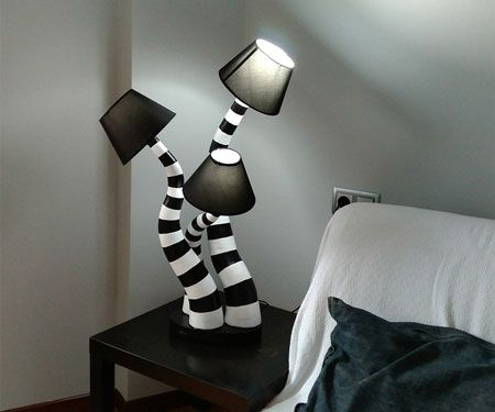 Photo of Beetlejuice lamps are whimsical creations based on the highly famed 1988 romantic comedy by Tim Burton.