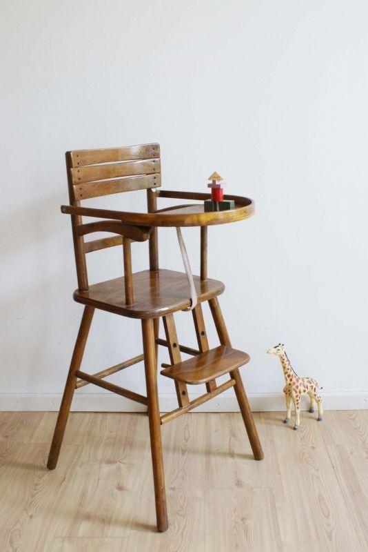 Houten Inklapbare Kinderstoel.Houten Vintage Kinderstoel Van Kibofa Kekke Hoge Retro Stoel Voor