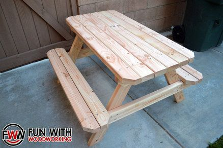 Kid Sized Picnic Table Made Out Of 8 2x4 S Picnic Table Table Kid Table