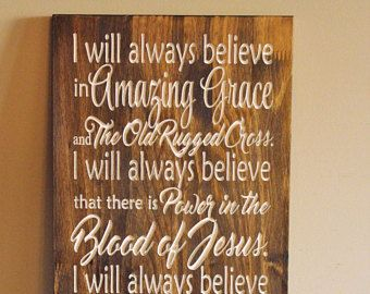 Amazing Grace Wall Art amazing grace pallet sign, old rugged cross, talks with me and he