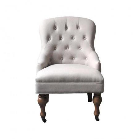 fauteuil en tissu gris clair boudoir